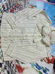axes kidsリボン付き長袖シャツ美品