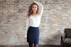 即完売★リエンダ★リブニットタイトスカート ブラック/M 新品タグ付 未開封 rienda