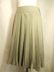 【MELROSE】カーキのプリーツスカートです