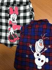 ユニクロ kids ディズニーコラボ チェックシャツ110