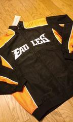 NFL 裏メッシュJKT EAGLES黒オレンジ LXL�B