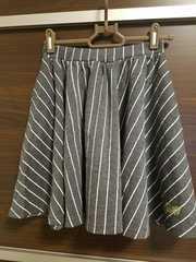 サイズ160/M/ALGY/アルジー/ストライプ/スカート/ひらひら/美品