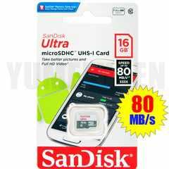 送料無料 SANDISK 16GB 高速80MB/s クラス10 microSDHC マイクロSDHC