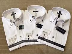 新品・長袖ワイシャツ 「おしゃれな」3枚セット LLサイズ