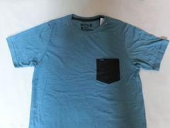 USA購入【Hurley】ソフト素材ポケット付 TシャツUS S ブルー系