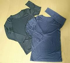 サイズ140◆ヒートテック8分袖肌着◆シンプル無地◆黒&ネイビー2枚セット◆