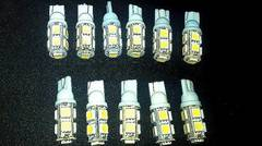 T10ウェッジ球 27連SMD白9発 ポジション球 白 LED 10個 24V