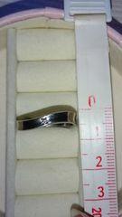 925 silver 一粒 ダイヤ付き リング サイズ大きめ男性にも♪