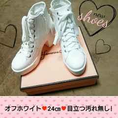 スニーカーブーツ☆オフホワイト *24�p*美品