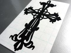 ∇十字架クロス LサイズカッティングステッカーA∇十字 シール