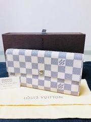1円 ◆正規品◆ 超美品 ◆ ルイヴィトン ダミエアズール 長財布