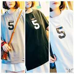 s6029大きいサイズ☆ 5 ダメージチュニックTシャツ LL~4L