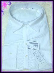 ◆29R/ブラウス/フロントギャザー/ホワイト・ラメ混/定価4,900円+税◆