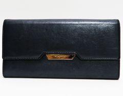 Ferragamoフェラガモ二つ折り長財布レザー紺 良品 正規品