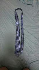 青斜め縞模様のネクタイ 約140センチ
