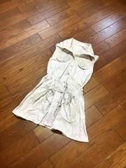 【即決】MEUNIER◆春夏ナイロン系◆ロングベストジャケット◆40