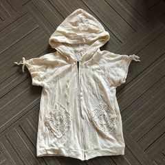 半袖カギ編みポケット パーカー 新品未使用品