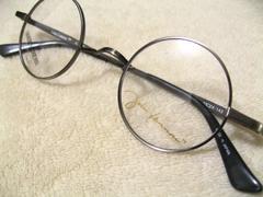 本物ジョンレノン.ブランド元祖オシャレ今旬の丸メガネチタン眼鏡フレーム定価28080円
