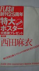 西田麻衣 特大ポスター
