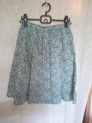 リバティ/アデラのボックスプリーツスカート*MLフリー
