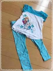 ディズニー/雪とアナの女王/半袖長ズボンセット/パジャマ/4T/110