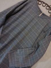 ●Ray Cassin●グレンチェック サイド切替ワンピース 新品gray