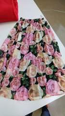 花柄スカート新品☆L夏に最高です
