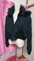 中古大きいサイズ3L ショート丈ダウンジャケット 黒