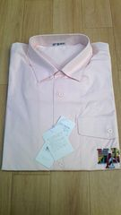 ☆新品【PIASPORTS/ピンクの半袖オープンシャツ/開襟】株式会社ライカ