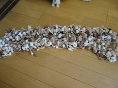 ぽんぽん毛糸玉 ロングミックスマフラー