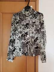 OZOC オゾック 花柄 ブラウス ブラック 38