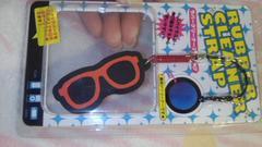 ラバ-クリ-ナ-ストラップ赤ぶち眼鏡