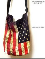 新品 ビンテージ星条旗 アメリカ国旗 ショルダーバッグL