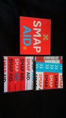 SMAP アルバム SMAP AID 初回プレス盤 ハンカチ付き 即決