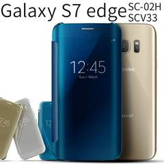 Galaxy S7 edge SC-02H / SCV33 半透明手帳型ケース