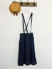 SM2*サス付きデニムスカート*濃い色*