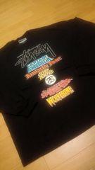 STUSSY&MARVEL  コラボ  WORLD-TOUR  大きい  size4XL  黒