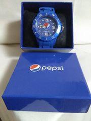 Pepsi リストウオッチ(べゼル付きタイプ) ブルー