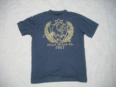 34 男 ラルフローレン 紺 半袖Tシャツ M