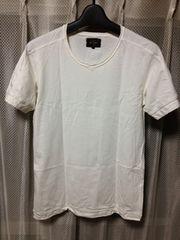 BEAMS ビームス 無地 半袖Tシャツ Sサイズ 白色 日本製 ユーズド加工