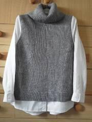 ローリーズファームブラウスドッキングセーター☆重ね着風