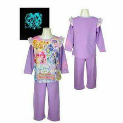 ハピネスチャージプリキュア★光るパジャマ◆紫◆120�p