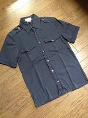 美品PAUL&JOE デザインシャツ フランス製 ポール&ジョー 紺