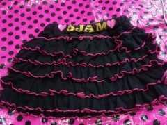 卒園入学入園�DJAM新品デカロゴ×裾ショキピン�D段激フリルスカート姉妹120