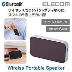 ワイヤレス Bluetoothスピーカー LBT-SPTR01AVBR エレコム