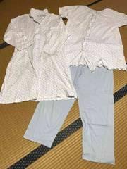 美品 レディース マタニティ パジャマ 半袖長袖 3点セット M〜L