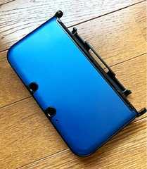 【新品】3DS LL保護収納ケースカバー青色