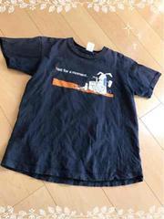 紺/ネイビー/プリント半袖Tシャツ/Sサイズ
