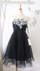 M ミディアムドレス Jewels ブラック チュール 新品 J16463
