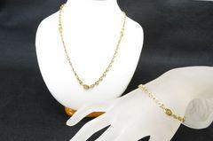 ★ダンヒル★ゴールドメタル ネックレス ブレス セット